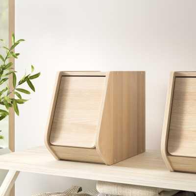 Narrow Stack Manufactured Wood Box - Wayfair