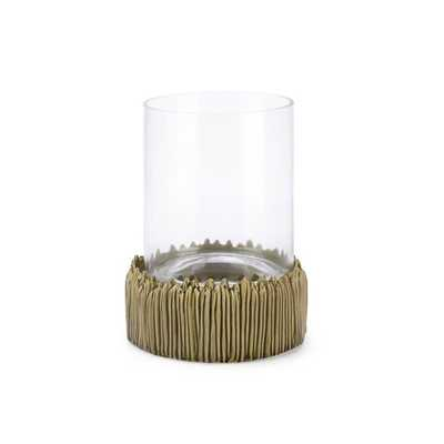 Helios Small Glass Candle Hurricane - Mercer Collection