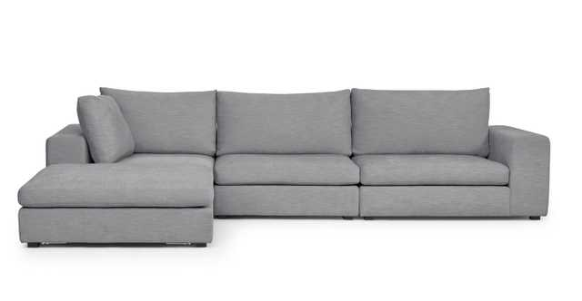 gaba gull gray left modular sectional - Article