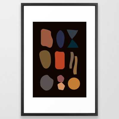 "Moment Framed Art Print - 26"" x 38"", vector black frame - Society6"