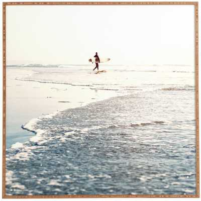 'Surfer Dude' Photographic Print - Brown Frame - Wayfair