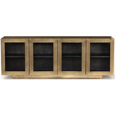Freda Media Console, Aged Brass, Special Order - High Fashion Home