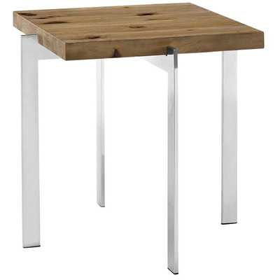 DIVERGE WOOD SIDE TABLE IN BROWN - Modway Furniture
