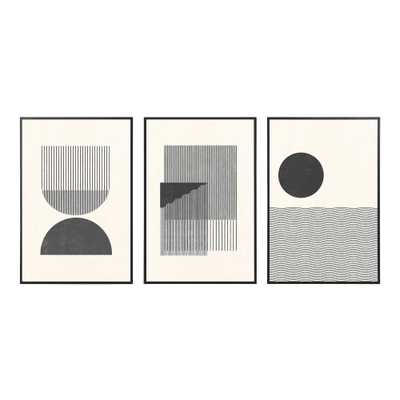 Black And White Retro Framed Wall Art 3 Piece - World Market/Cost Plus