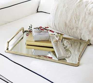 Lynn Brass & Mirror Tray - Pottery Barn
