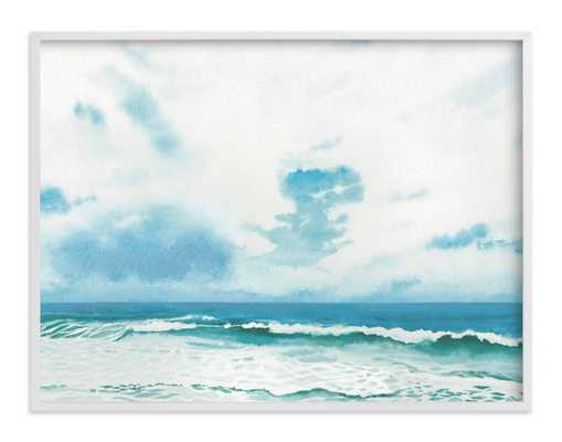 """Meet you there - 40x30"""" - white wood frame - Minted"""