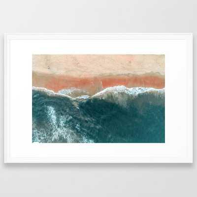 Tropical Drone Beach Photography Framed Art Print - Society6