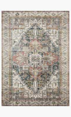 "AF-23 IVORY / MULTI-7'10"" x 10'10"" - Loma Threads"
