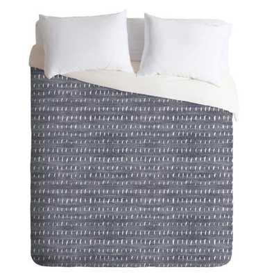 BOGO DENIM RAIN LIGHT - queen size duvet cover with shams - Wander Print Co.
