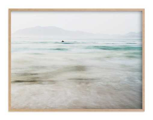 "The Pacific Wall Art - 40""x30"" Natural Raw Wood Frame - Minted"