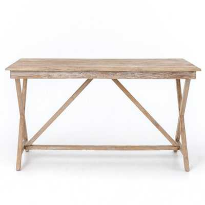 Palma Desk in Whitewash - Burke Decor