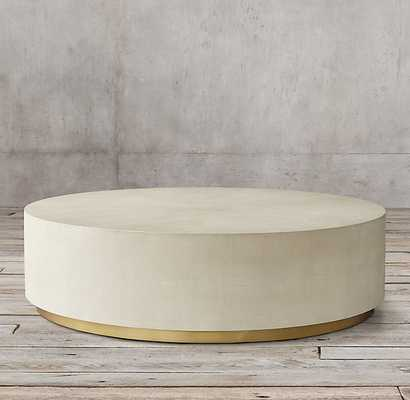 GRAYDON SHAGREEN PLINTH ROUND COFFEE TABLE - RH