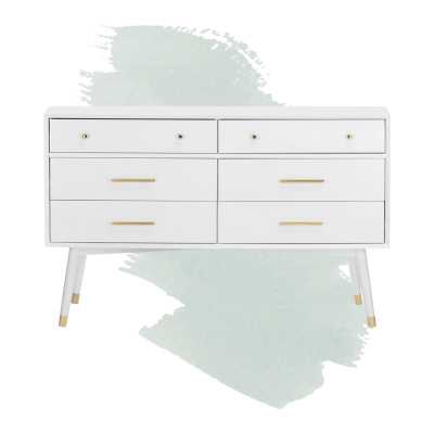 Lyla 6 Drawer Double Dresser - white - Wayfair