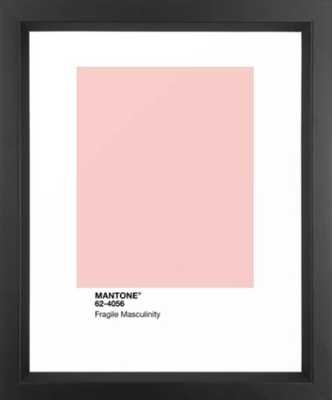 MANTONE® Fragile Masculinity Framed Art Print - Society6