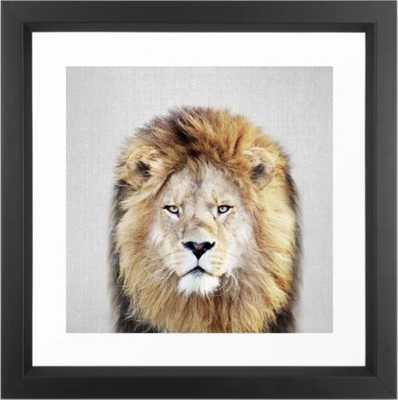 Lion 2 - Colorful Framed Art Print 12 x 12 - Society6