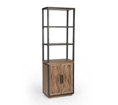 Parquet Reclaimed Wood Cabinet, Black Bronze - Pottery Barn