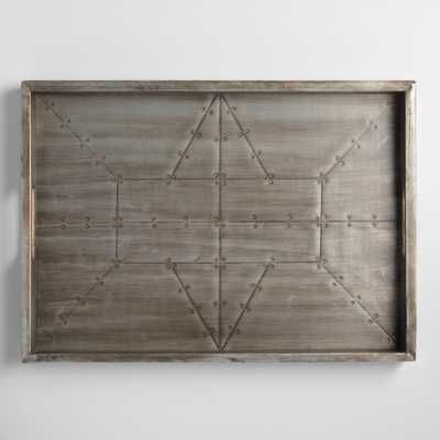 Industrial Wood and Metal Tray: Gray/Metallic by World Market - World Market/Cost Plus