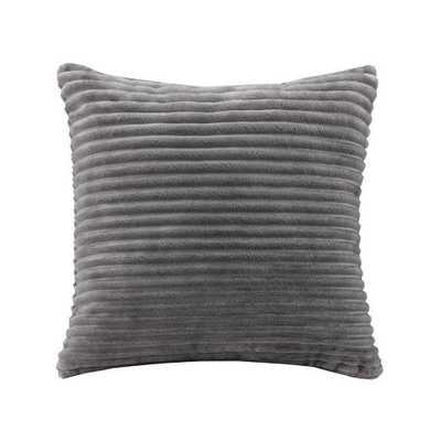 Williams Corduroy Plush Square Pillow Gray - Target