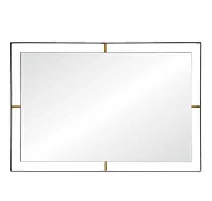 Framed Rectangular Wall Mirror - Matte Black - Rogue Décor - Target