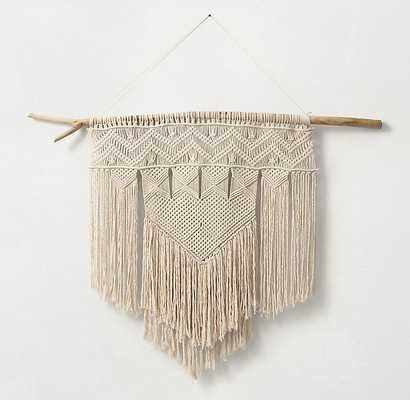 HAND-KNOTTED MACRAMÉ LARGE WALL HANGING - RH Teen