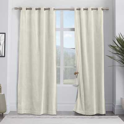 "Jorgenson Solid Room Darkening Thermal Grommet Curtain Panels (Set of 2) - Ivory - 96"" L - Wayfair"