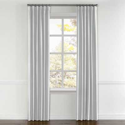 "Classic Linen Silver -no lining, pair split draw 96""L - Loom Decor"