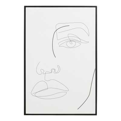 Face Lines By Madara Framed Wall Art - World Market/Cost Plus
