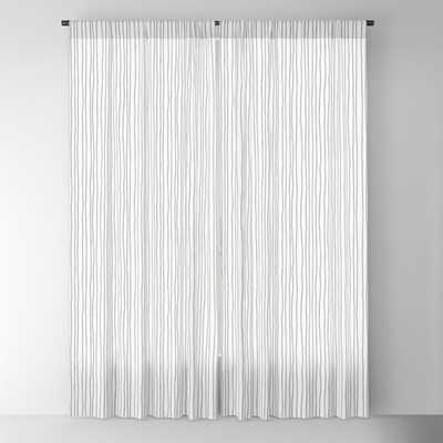 "Blackout Window Curtains - Platinum Lines Never Fail - Light Gray Blackout Curtain - 96""x50"" - Set of Two - Society6"