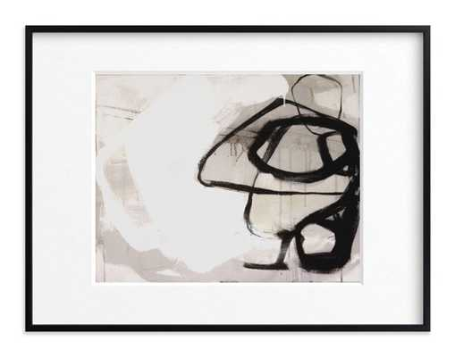 "black impact -Black wood frame 40x30"" - Matted - Minted"