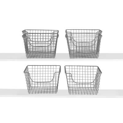 Scoop Metal/Wire Basket (Set of 6) - Wayfair