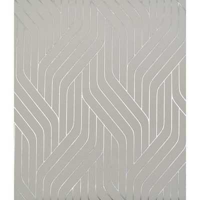 "Antonia Vella Ebb and Flow 32.8' L x 20.8"" W Metallic/Foiled Wallpaper Roll - Wayfair"