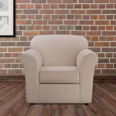 Ultimate Heavyweight Stretch Leather 2 Piece Box Cushion Armchair Slipcover Set - Wayfair