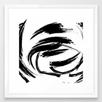 Foundry Abstract Brush Strokes 1  - Vector White - Society6