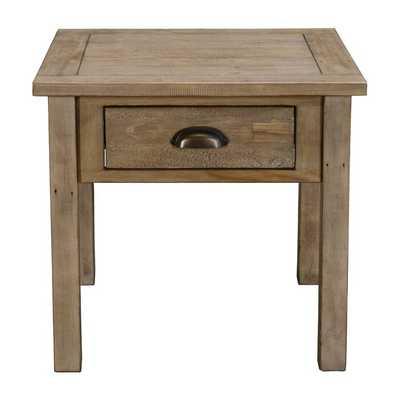 Emsworth Driftwood End Table - Wayfair
