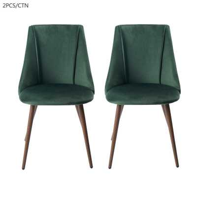 Camron Velvet Upholstered Side Chair (set of 2) - Wayfair