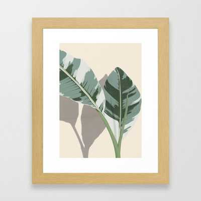Banana Leaves Framed Art Print - Society6