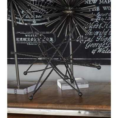 Multi-Pointed Star Iron Sculpture - Home Depot