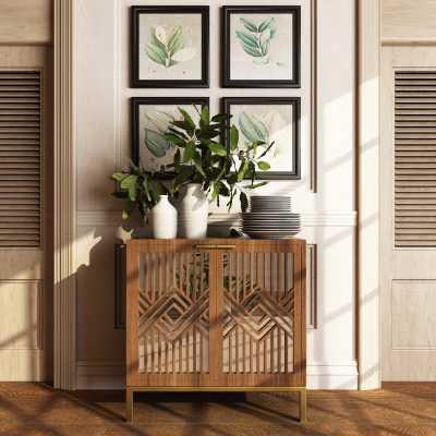 Kaysen 2 Door Mirrored Accent Cabinet - Wayfair