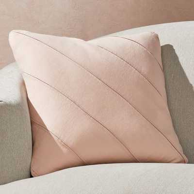 "Theta Blush Linen Pillow with Down-Alternative Insert 20"" - Crate and Barrel"
