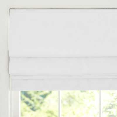 "Classic Metro Roman Cordless Shade, 36 x 64"", White - PBteen"