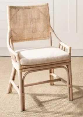 "Safavieh Rural Woven Dining Donatella Natural White Wash Chair - 22"" x 24"" x 37"" - Overstock"