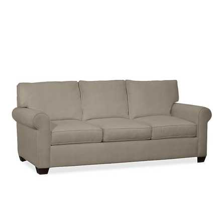 "Buchanan Roll Arm Upholstered Sofa 87"", Polyester Wrapped Cushions, Twill Cream - Pottery Barn"