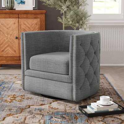 Lavaca Swivel Barrel Chair - Wayfair