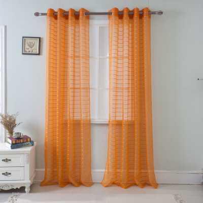 Jardine Plaid Sheer Grommets Single Curtain Panel - Wayfair