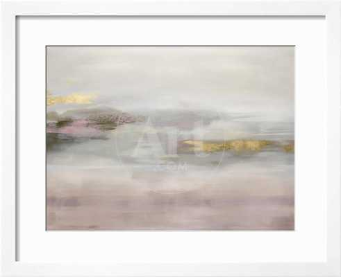 "Suspend in Blush 42"" x 34"" Gramercy White Frame - art.com"