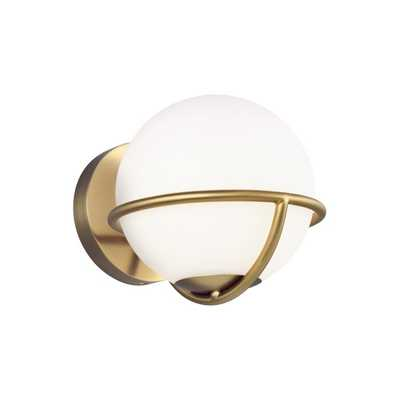Apollo 1-Light Dimmable Armed Sconce - Perigold
