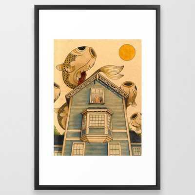 Fish Migration Framed Art Print - Society6