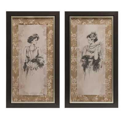 Bianca Framed Art - Ast 2 - Mercer Collection