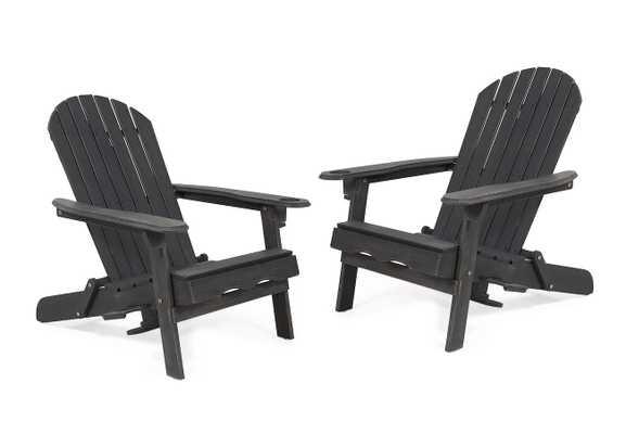 Vanhorn Solid Wood Folding Adirondack Chair (Set of 2) - Wayfair