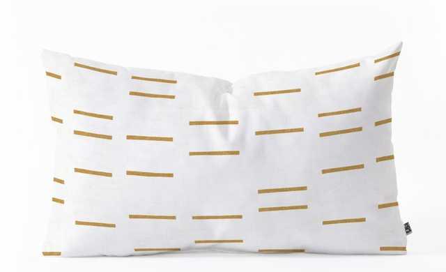 OCHRE LINE Oblong Throw Pillow By Holli Zollinger - Wander Print Co.